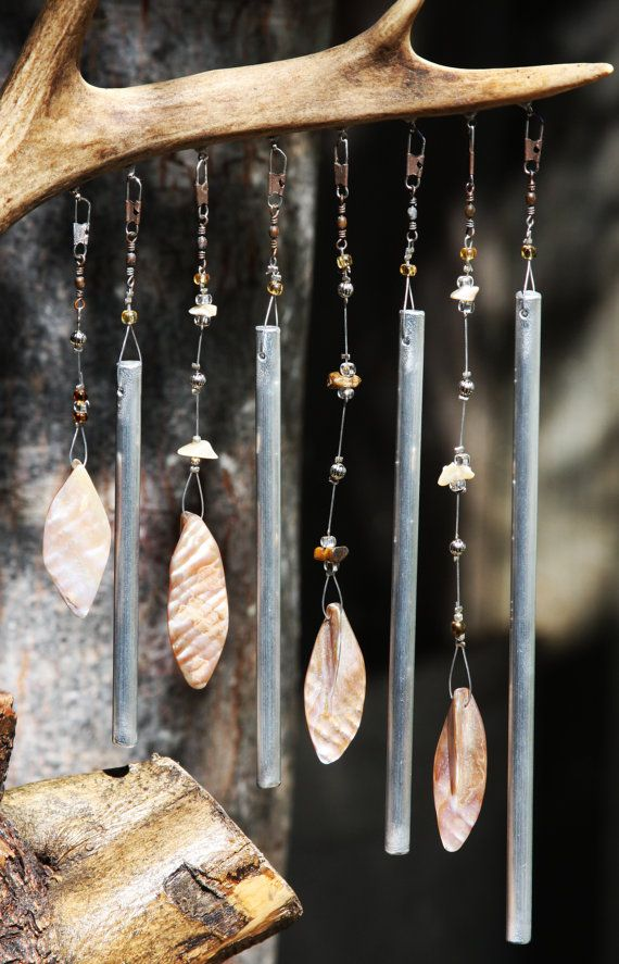 Handmade Windchime Deer Antler Tabletop by RockingchairChimes