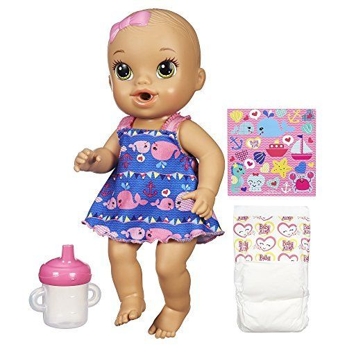 Baby Alive Sips 'n Cuddles Nautical Doll, http://www.amazon.com/dp/B00NCYWTLY/ref=cm_sw_r_pi_n_awdm_7zFCxbFJZXN27 my little one has this doll. It is her favorite.