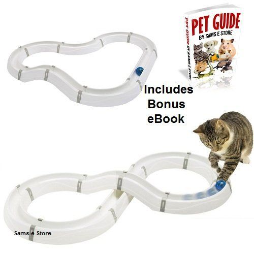 Cat Chase Toy with Interactive Flashing Light Ball suitable for Kittens and Large Cat Breeds Fun Play Stimulate Exercise (Circuit) >>> For more information, visit image link. #CatToys