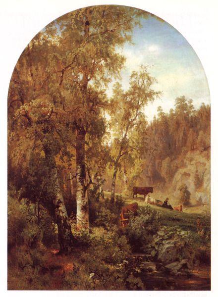 """Ihanteellinen Maisema"",1860, by Werner Holmberg (1830 – 1860)"