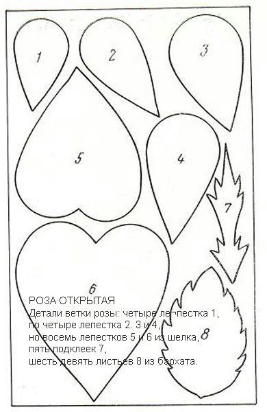 выкройка розы открытой (390x600, 140Kb)