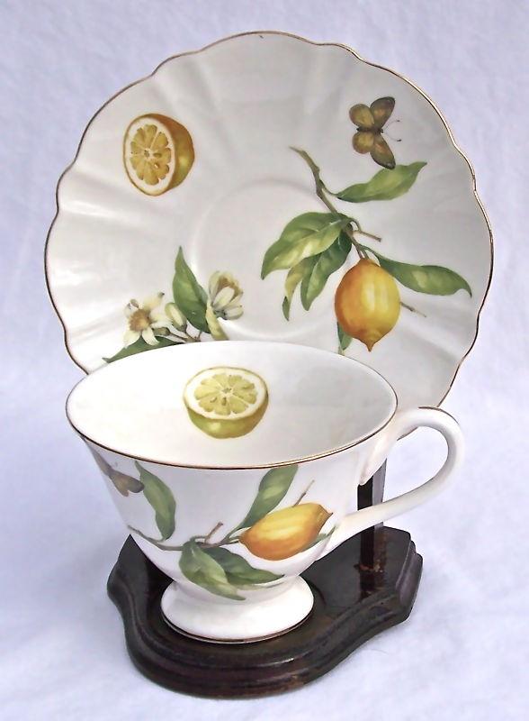 Fine Bone China Teacup and Saucer Lemon Tree Chintz 811961013752 | eBay