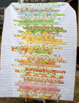 Jelly roll quilt by Kim M