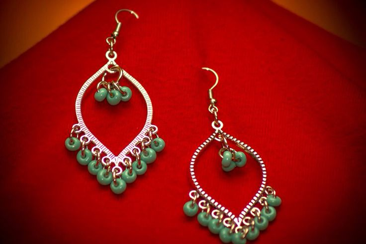 Amazing jade earings for this Summer by CrocherGrace!  Find them at Etsy.com