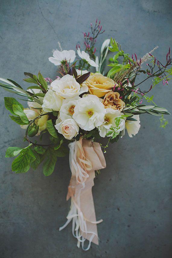 Garden rose ranunculus flowering jasmine spring fling for Simple fall bridesmaid bouquets
