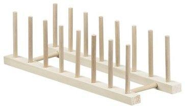"""Wooden 15"""" Plate Rack modern-kitchen-drawer-organizers"""