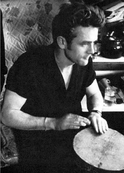 At parties where most people would sit and talk to one another, James Dean preferred to sit in the corner and play his bongo drums. Sometimes the whole night without saying as much as few words to people.