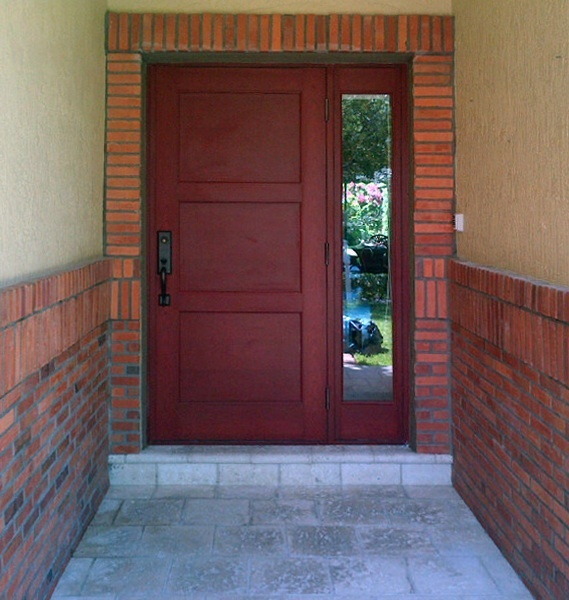 Aluminum frame with wood-simulated finish entry door installed by Astor Windows in Miami & 16 best Doors images on Pinterest | Cgi Door entry and Entrance