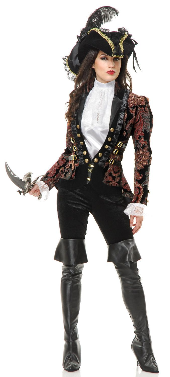 sultry female pirate lady adult costume womens pirate costumes mr costumes - Pirate Halloween Costumes Women