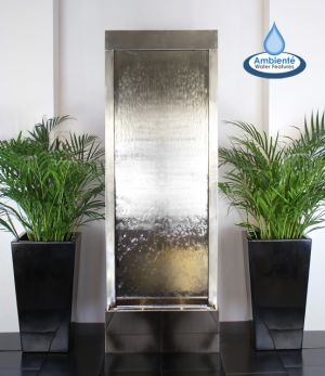 Water Feature Between Two Planters