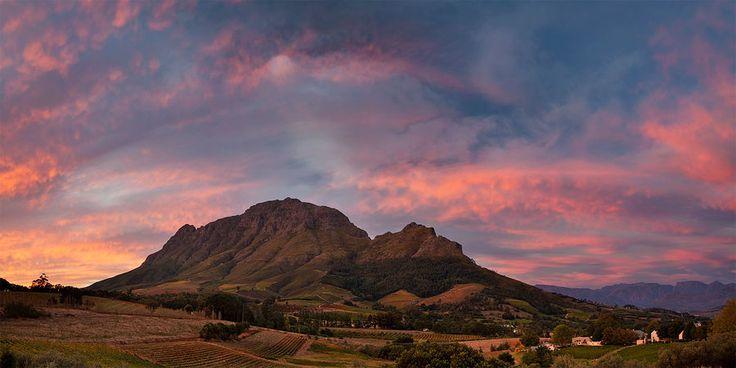 Stellenbosch Sunset - An artists dream