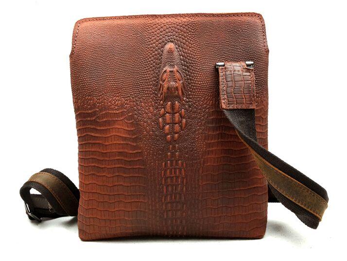 100% Crazy лошадь кожа мужчины сумки крокодил план главы европа мужчины бизнес мужской портфель старинные мешок плеча сумки