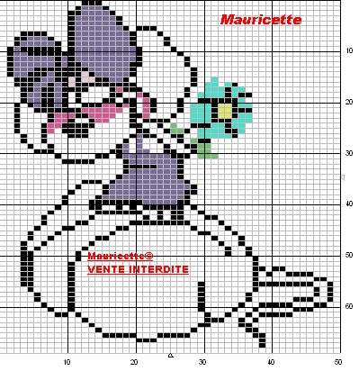 Diddl perler bead pattern by Mauricette