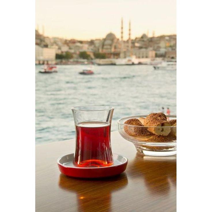 Original Turkish Tea Glass Set for Six | Grand Turkish Bazaar
