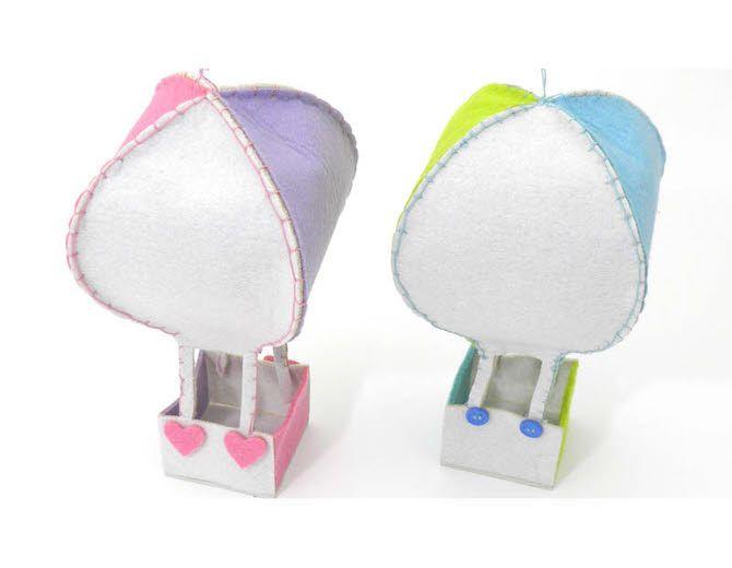 Αερόστατο από τσόχα για στολισμό βάπτισης | | www.kordelaki.gr-Υλικά για μπομπονιέρες γάμου και βάπτισης