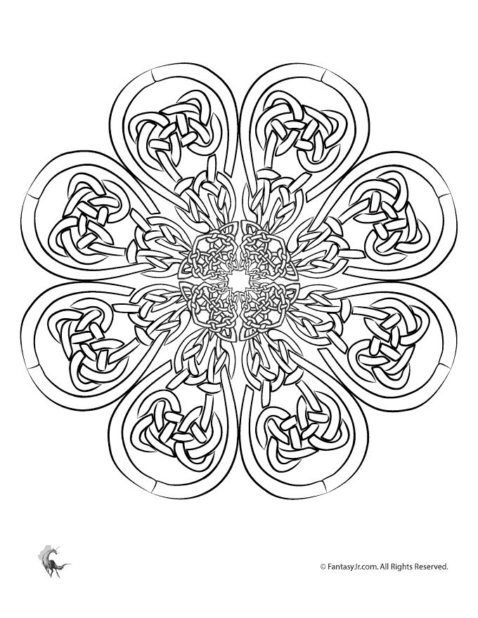 irish coloring pages celtic mandalas celtic art adult coloring page fantasy