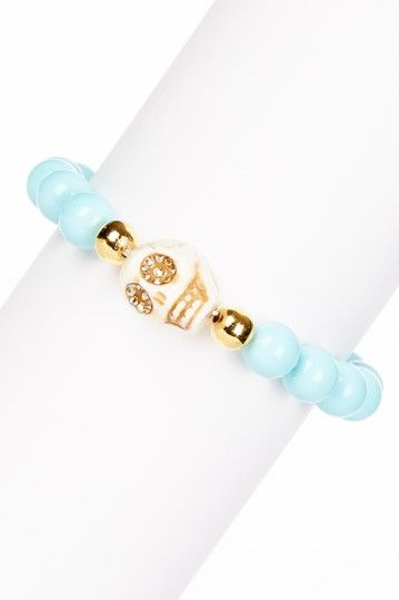 Zsa Zsa Jewels Sugar Candy Skull Bracelet by Assorted on @HauteLook