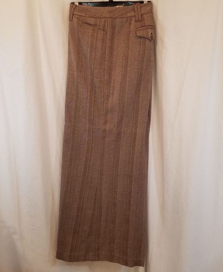 Chelsea Trousers from Lane Bryant. Brown Tweed. A great career look - pair with a twinset and flats or a crisp menswear style shirt and kitten heels. Pulled thread at right knee - see orange arrow in pictures for placement. | eBay!