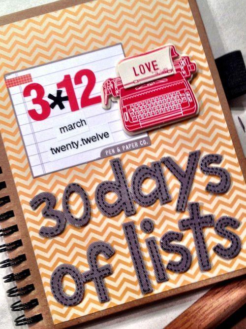 30 days of lists: Lists Smashbook, Crafts Journals Smashbook, Art Journals, Journals Ideas, Books Journ Ideas, Smash Books, 30 Day, Smashbook Scrapbook, Offices Supplies
