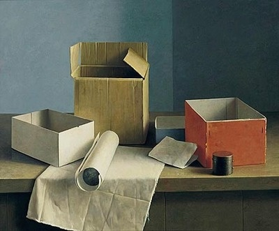 stilllifequickheart:    Henk Helmantel  Still Life with Boxes  1990