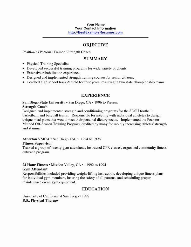 Personal trainer resume personal trainer resume