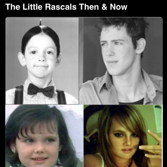Little rascals then and now. | cute things | Pinterest