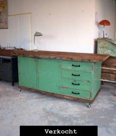 oude_houten_werkbank_keukeneiland_groen_verkocht