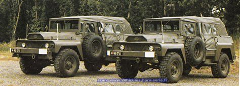 French Army ACMAT VLRA TPK 420 VCT (with windows folded up and canvas top cover on)