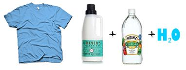 Use fabric softener and vinegar in a spray bottle to release wrinkles from clothing.