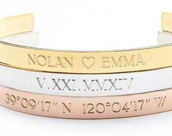 SILVER COORDINATE bracelet coordinates cuff by MyBelovedCo