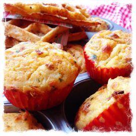 Een lekkere hartige muffin of wafel, verrassend voor in de lunchtrommel