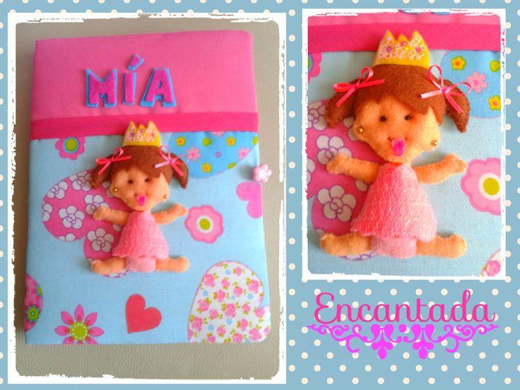 cuaderno con Diseño bebé princesa