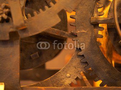 Grunge gear, cog wheels background. Concept of industrial, science, clockwork, technology