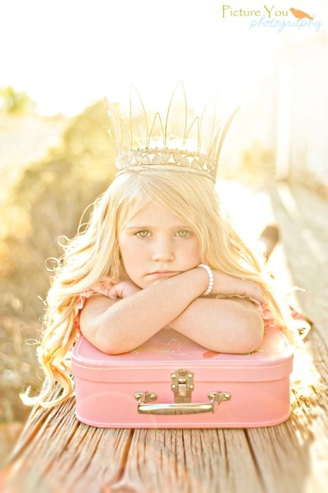 Amazing light. {Inspirational Child Photographer} {Pose Idea} {Family Photraphy} Also think a vintage case with kid sitting on it... like they are running away would be cute.