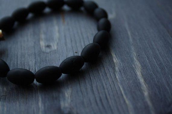 Bracelet made of natural stone Irish Cross Viking от MintTigerRus