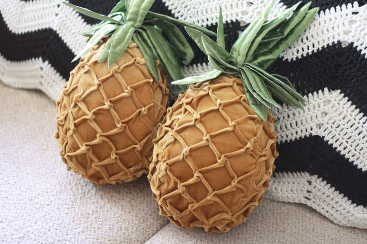 So In Love With These Pineapple Pillows For The Bedroom