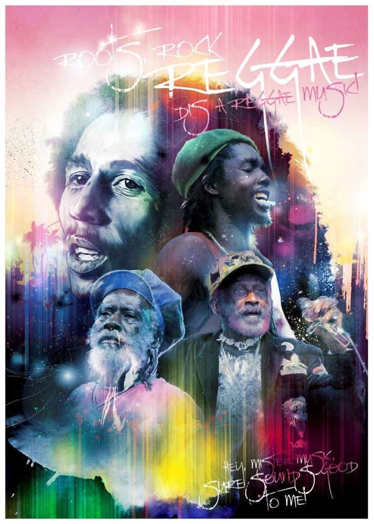 Roots Reggae Poster By Richard Davies Turksworks Art Graphic Design Digital Illustration Painting