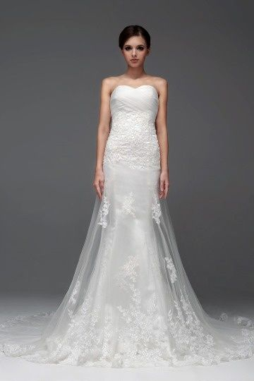 Moretonhampstead Beautiful Tulle Sweetheart Lace Long Wedding Dress