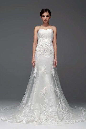 Moretonhampstead Beautiful Tulle Sweetheart Lace Long Wedding Dress