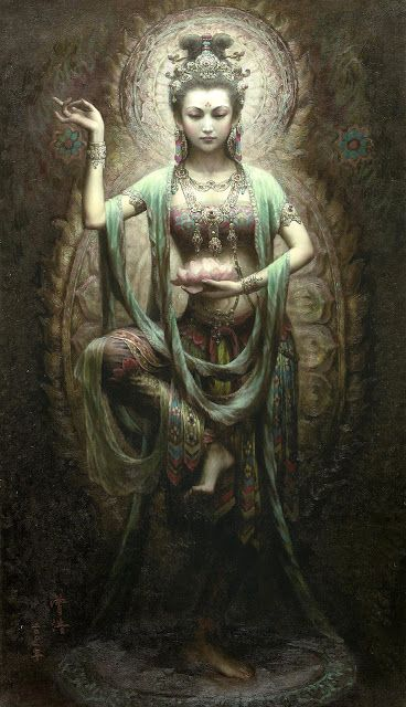 Dalla Blog: THE DIVINE MOTHER KWAN YIN IN VARIOUS ILLUSTRATORS IMAGINATION