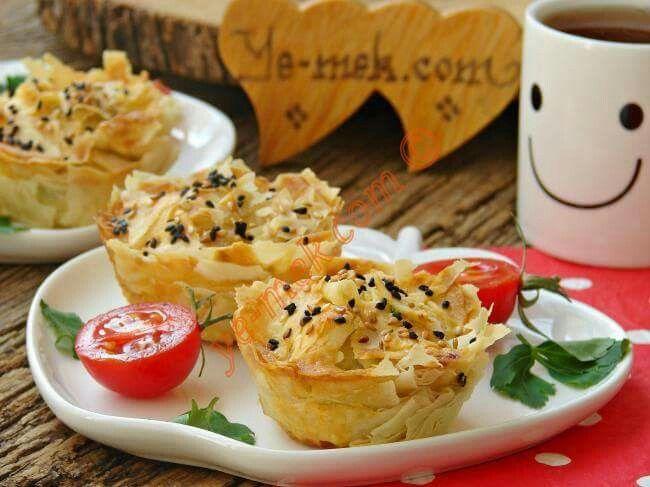 Muffin börek peynirli