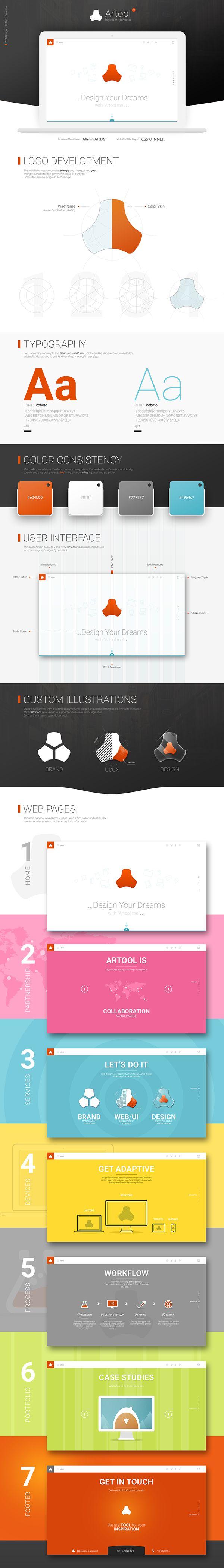 Artool Me website design #webdesign #trend #logodesign #wireframe #workflow #behance #portfolio #red #black