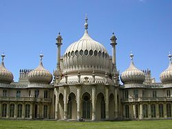 Architecture - Chapter 4 - English Regency, British Greek Revival - Royal Pavilion - Brighton, England by Henry Holland and remodeled by John Nash