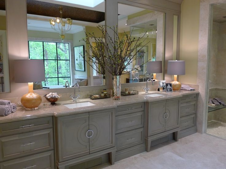 contemporary master bathroom with frameless showerdoor flat panel cabinets robert abbey athena table lamp in citron flush