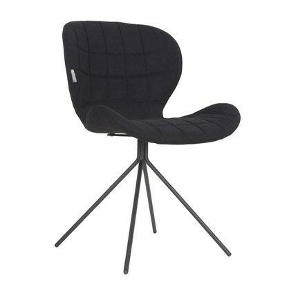 Oh my God - spisebordsstol sort  Lækker stol med flot ensfarvet betræk (100% polyester) Stolen kan anvendes som både spisestuestol, kontorstol og stand-alone chair.  OMG stolen måler 79 cm til toppen af ryggen. Sædeformat 50 cm bred og 40 cm dyb. Højde til sæde er 45 cm.