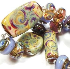 Quinlan Glass Creole French Handmade Lampwork Glass Beads