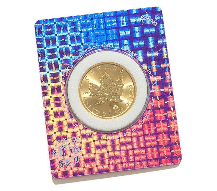 SPECIAL PRICE! 2017 1 oz .9999 Gold Maple Coin in Certi-Lock Assay BU #A417
