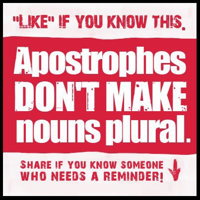 Stop abusing apostrophes