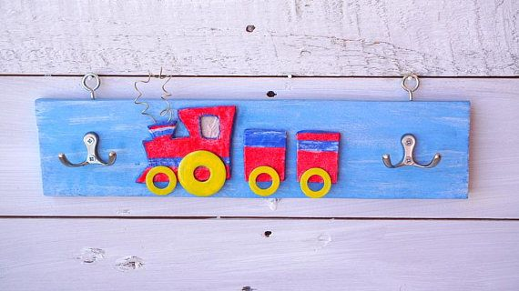Gift for Boy Train Train Wall Art Kids Bedroom Decor Boy