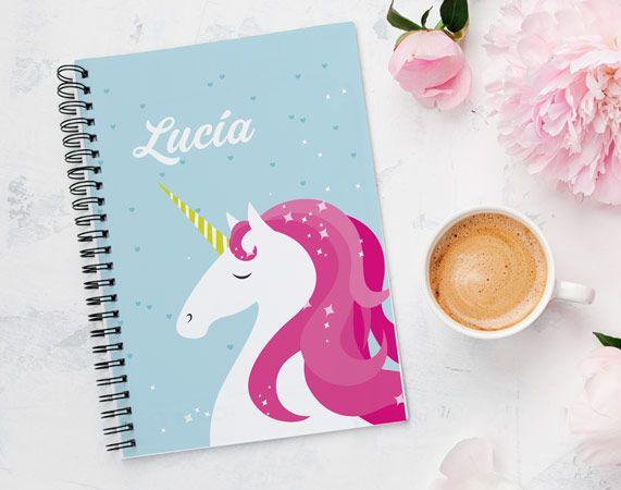 Cuaderno personalizado Unicornio mágico